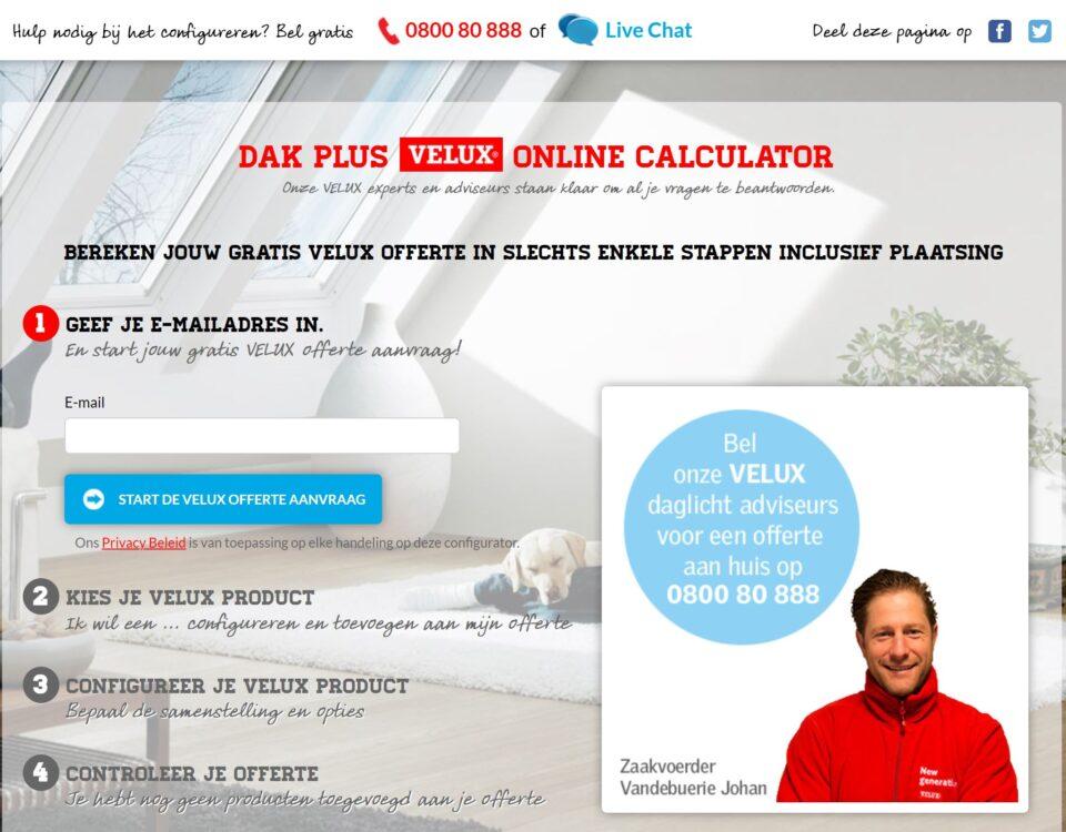 Dak Plus VELUX calculator